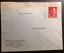 1943 Krakow GG Poland Germany Administration Of Landed States Cover To Krosno