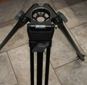 Miller 440 Aluminum DS 1-Stage 75mm Lightweight Tripod Legs  - Supports 30 lb