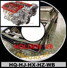 Holden HQ HJ HX Hz WB Ls1 Series V8 Info Parts Restoration Assembly Bible CD