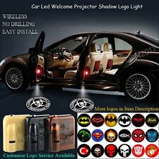 2x Wireless Car Door Welcome Puddle Shadow LED Light Logo ZOMBIE OUTBREAK Emblem