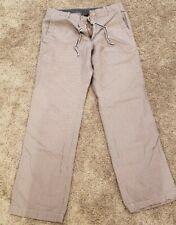 Mens Banana Republic White & Navy Stripe Linen Blend Pants Size 31 X 32