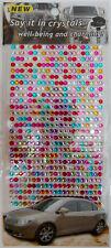 Grande Arco PEGATINA DECORACIÓN - Brillante piedrecita Cristal Colorido #213
