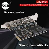Asiproper SSU U3V04S + 4-Port USB 3.0 PCIe-Erweiterungskarte PCI Express