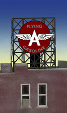 "FLYING A GAS ROOF TOP SIGN by MILLER ENGINERING -N/ Z SCALE- 0.9"" W X 0.85"" T"