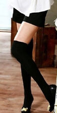 NEW BLACK OPAQUE OVER THE KNEE THIGH HIGH STAY UP STOCKINGS AUSSIE SELLER