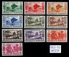 NOUVELLES HÉBRIDES : Série 144 à 153, Neufs * = Cote 35 € / Lot Timbres COLONIES