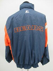 P5416 VTG Starter Chicago Bears Men's NFL- Football Nylon Jacket Size L