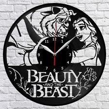 Beauty And The Beast Vinyl Record Wall Clock Home Decor Fan Art Gift 3651