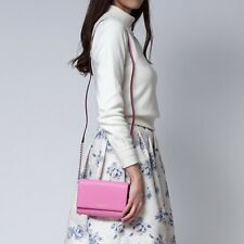 New Kate Spade Cedar Street Cami Crossbody Leather Bag Pink