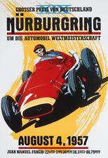 Nürburgring Agosto 1957 Letrero de Metal Arqueado Tin Sign 20 X 30CM
