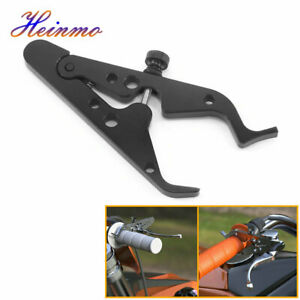 CNC Motorcycle Cruise Control Throttle Clamp Lock Assist Retainer Grip Black