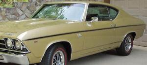 1969 Chevrolet Chevelle SS396 Factory Longitidinal Black Tape Stripe Kit NEW USA