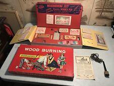 Vintage Wood Burning Kit With Original Box