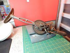 ANTIQUE 1912 Goodell Pratt Breast/Shoulder 2-Speed Hand Crank Drill w/Level