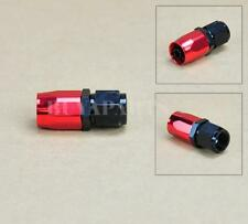 Black Red AN10 -10AN Straight Swivel Oil/ Fuel/Gas Hose Line Fitting Adaptor