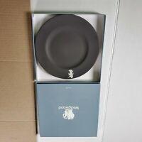 "Vintage Wedgwood Jasperware Black Plate w/ White Dancer Collectible 8"""