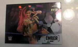 2020 Topps Chrome WWE Ember Moon Black Refractor 09/10