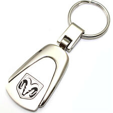Genuine Dodge Ram Logo Metal Chrome Tear Drop Key Chain Ring Fob