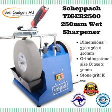 Scheppach TIGER2500 250mm Wet Sharpener Stone Grinder Chisel Knife & Blade Sharp
