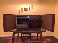 WORKS Mid Century Modern General Electric Stereophonic Folding Speaker Wall Unit