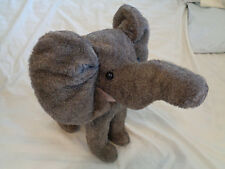 "Musical Wind Up Elephant Plush Figurine Plays ""Parade of the Wooden Soldiers"""