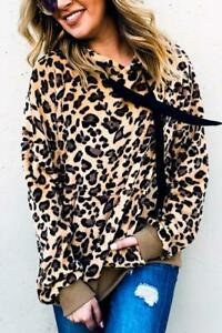 NWT Sherpa Pull Over Animal Print Fleece Hoodie M, L