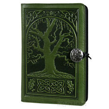 "Celtic Oak Fern 6""x9"" Large Leather Journal Oberon Design COMBINED SHIPPING"