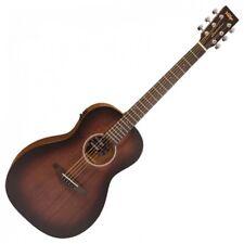 Vintage VE880WK Statesboro' Parlour Electro Acoustic Guitar - Whisky Sour