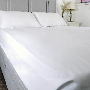 Luxury Pure 100% Cotton Flat Bed Sheet Hospital Quality   Single