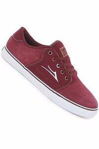 Lakai Shoes Carlo Burgundy Suede New Skateboard Sneakers