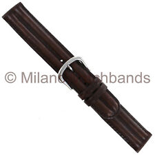 18mm Milano Western Genuine Leather Dark Brown Double Padded Mens Watch Band
