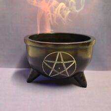 Räucherschale Pentagramm Hexenkessel Räuchergefäß Weihrauch 9,7 cm mittel