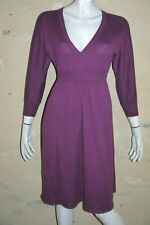 VIRGINIE CASTAWAY Taille S/M 38 Superbe robe manches longues violet dress
