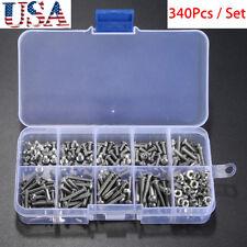 340x Metric M3 304 Stainless Allen Button Head Hex Socket Cap Screw Bolt Nut Set