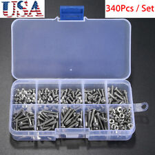 340x Metric M3 304 Stainless Steel A2 Button Head Hex Socket Cap Screw Bolt Set