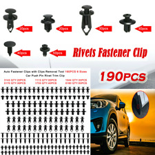 190Pcs Auto Fastener Plastic Fastener Rivet Car Push Pin Rivet Trim Clips Kit