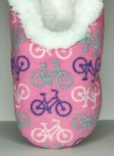 Snoozies Slippers Women's Size Large 9-10 Hip Collection French Bicycles Booties