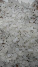 GENUINE BEACH GLASS SEA GLASS NATURALLY SURF Tumbled CLEAR WHITE over 1lb