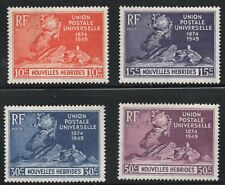 New Hebrides - French  (1949)  - Scott # 79 - 82,   MH
