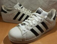 Adidas Men's Superstar Classic Sneakers Snake Skin Print Wht & Blk Size 8 D70171
