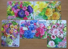 "Russia - 2019 ""Flower Bouquets"" Pocket Calendars"