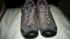 Women 7 Keen Dry Waterproof Leather Hiking Trail Outdoor Low Top Shoes 37.5 Gray