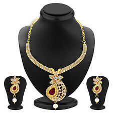 Sukkhi Brilliant Necklace Set Detachable to Pendant Set with Chain(2564NADP550)