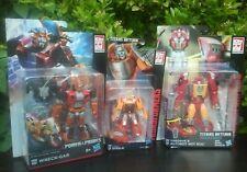 3x Transformers The Movie set - WHEELIE HOT ROD WRECK-GAR (Deluxe,Legends)3 pack