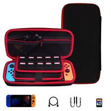 For Nintendo Switch Hard Shell Case Bag Carry Pouch With 10 Game Storage Strap