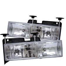 Spyder Auto 5012388 Crystal Headlights For 88-99 Chevy C/K Series 1500/2500/3500