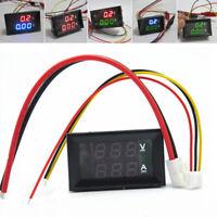 DC 100V 1/10/50/100A Voltmeter Ammeter LED Amp Dual Digital Volt Meter Ga bi