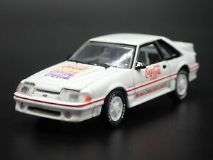 1990 90 FORD MUSTANG GT 5.0 FOX BODY COCA-COLA COKE 1:64 SCALE DIECAST MODEL CAR