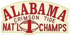 University Of Alabama  Natl. Champs College Vintage Looking Travel Decal Sticker