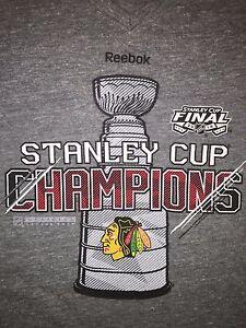 Chicago Blackhawks 2015 Stanley Cup Champions Reebok T-Shirt Women's Medium